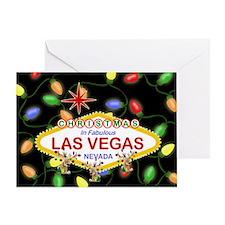 Las Vegas Christmas Lights Greeting Card