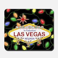 Las Vegas Christmas Lights Mousepad