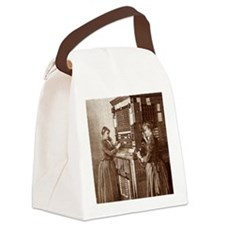 Early telephone exchange, Paris Canvas Lunch Bag