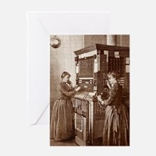 Early telephone exchange, Paris Greeting Card