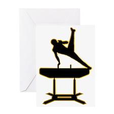 Gymnastic---Pommel-Horse-AD Greeting Card