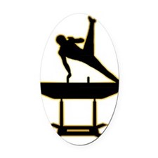 Gymnastic---Pommel-Horse-AD Oval Car Magnet