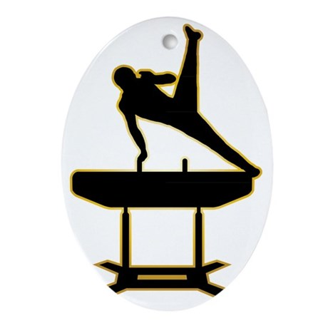 Gymnastic---Pommel-Horse-AD Oval Ornament