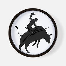 Bull-Riding-AA Wall Clock