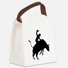 Bull-Riding-AA Canvas Lunch Bag