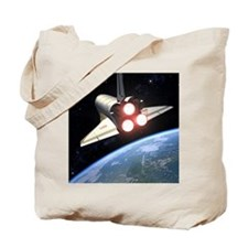 Earth-orbiting Space Shuttle Tote Bag
