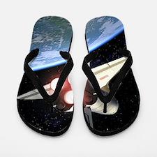Earth-orbiting Space Shuttle Flip Flops