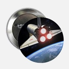 """Earth-orbiting Space Shuttle 2.25"""" Button"""