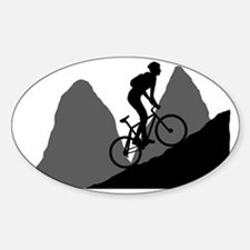 Mountain-Biking-AA Sticker (Oval)