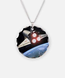 Earth-orbiting Space Shuttle Necklace