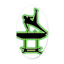 Gymnastic---Pommel-Horse-AC Oval Car Magnet