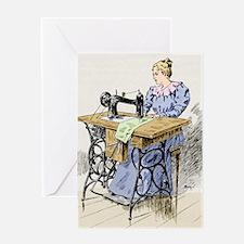 Electrical sewing machine, 1900 Greeting Card