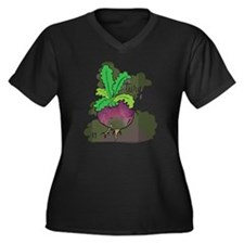 Turn up Women's Plus Size Dark V-Neck T-Shirt