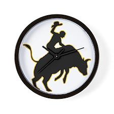 Bull-Riding-AD Wall Clock