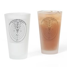 Diagram of Copernican cosmology Drinking Glass