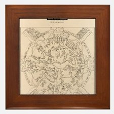 Dendera zodiac from the Temple of Hath Framed Tile