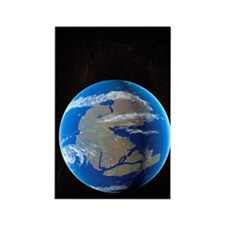 Earth at time of Pangea Rectangle Magnet