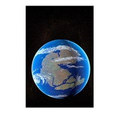 Earth at time of Pangea Postcards (Package of 8)