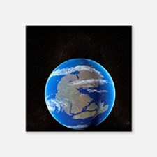 "Earth at time of Pangea Square Sticker 3"" x 3"""