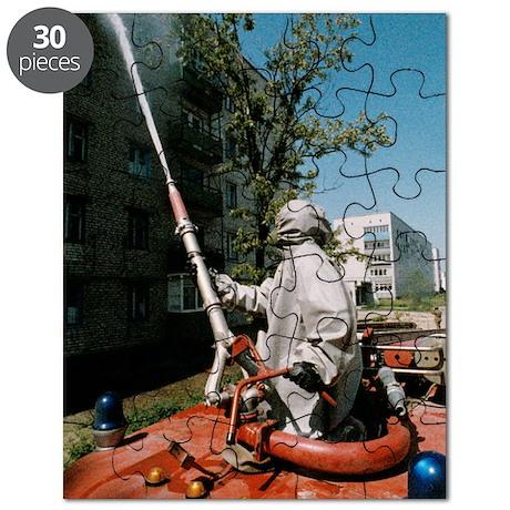 Decontamination in Chernobyl, Ukraine Puzzle
