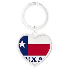 Texas Flag - TX Heart Keychain