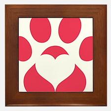 Woodbridge Animal Shelter Red Paw Prin Framed Tile