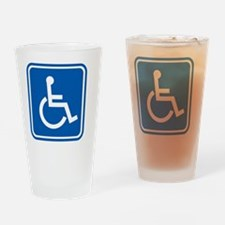 Disability sign, computer artwork Drinking Glass