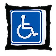 Disability sign, computer artwork Throw Pillow