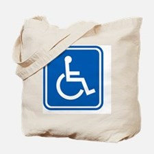 Disability sign, computer artwork Tote Bag