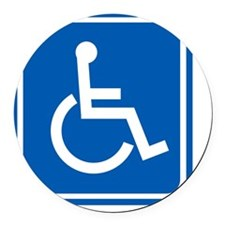 Disability sign, computer artwork Round Car Magnet