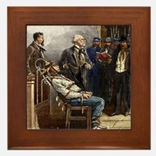 Electric chair, 1890 Framed Tile