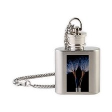 Electrical wires Flask Necklace