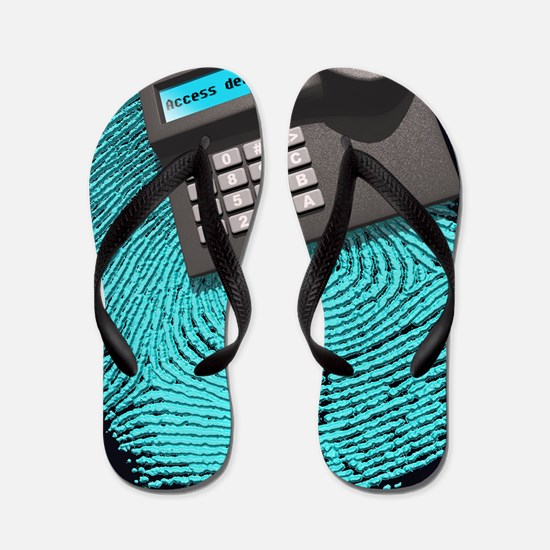 Fingerprint scanner Flip Flops