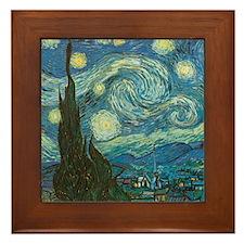 Starry Night W Framed Tile