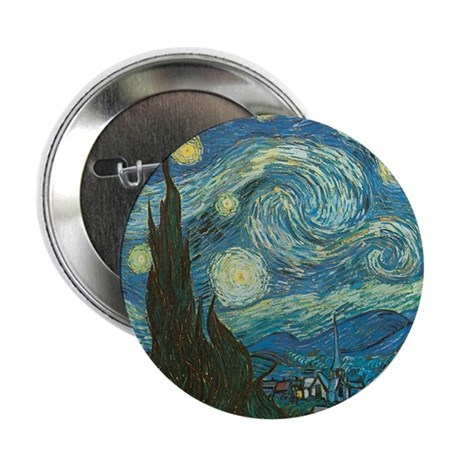 "Starry Night W 2.25"" Button"