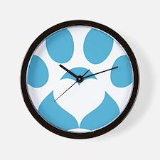 Woodbridge Animal Shelter Blue Paw Prin Wall Clock