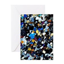 Granulite mineral, light micrograph Greeting Card