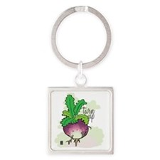 Turn up! Square Keychain