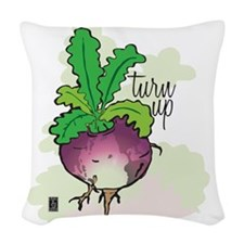 Turn up! Woven Throw Pillow