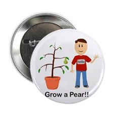Grow A Pear 2.25 In. Button