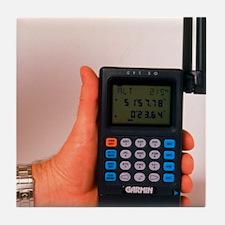 Hand-held GPS receiver Tile Coaster