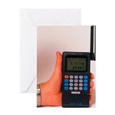Hand-held GPS receiver Greeting Card