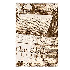 globetheatre2-men-3x5rug Postcards (Package of 8)