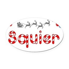 Squier, Christmas Oval Car Magnet
