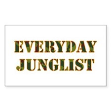 Everyday Junglist (Orange Border) Decal