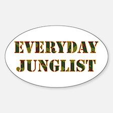 Everyday Junglist (Orange Border) Oval Decal