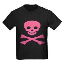 Pink Skull and Crossbones T