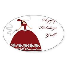 WellArmed.US Girl Happy Holidays Ya Decal