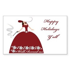 WellArmed.US Girl Happy Holida Decal
