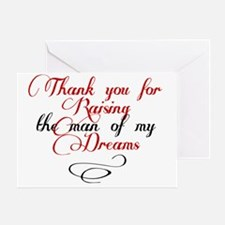 Man of my dreams Mother in law Greeting Card